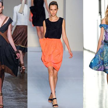 Looks from Donna Karan, Marc by Marc Jacobs, and Rodarte.