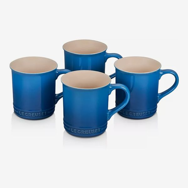 Le Creuset Set of Four 14-Ounce Stoneware Mugs