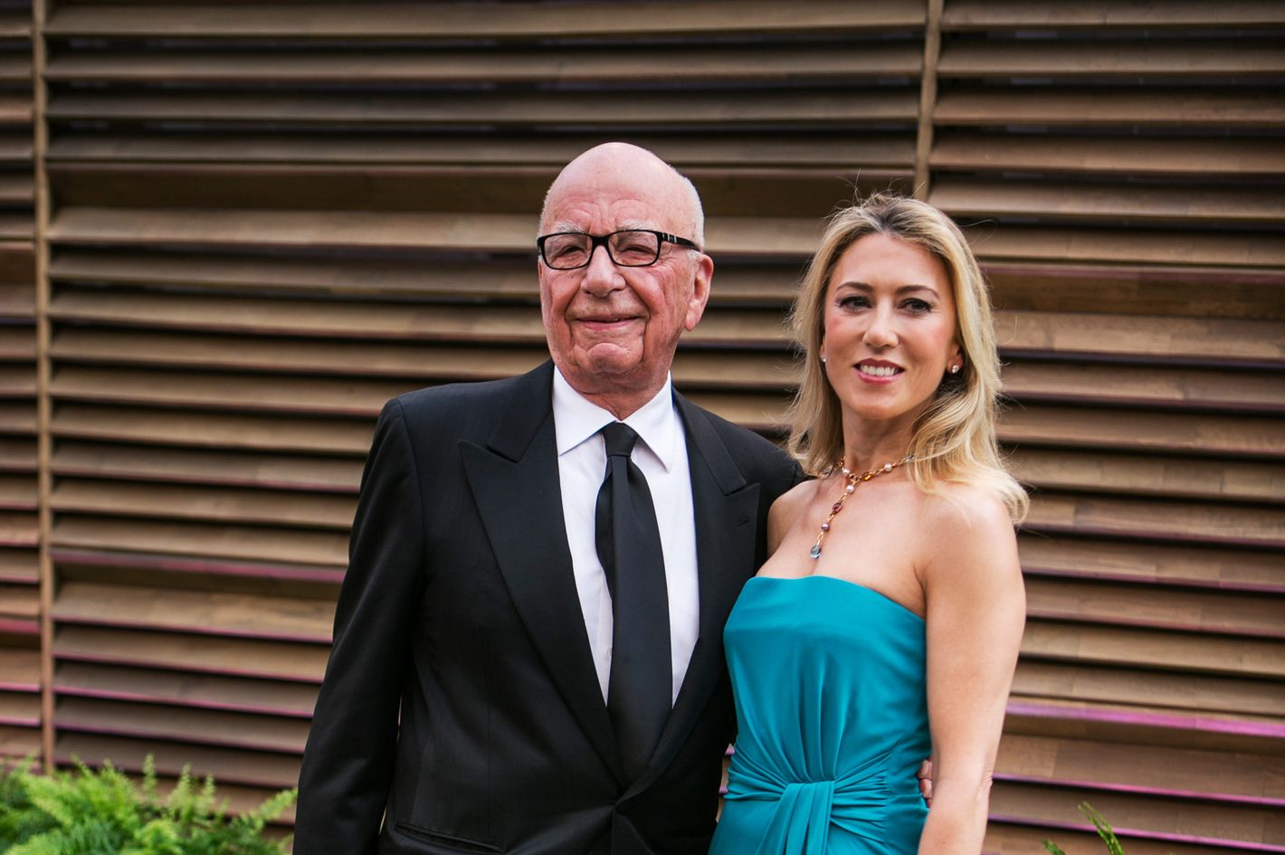 Rupert Murdoch and guest arrive to the 2014 Vanity Fair Oscar Party on Sunday, March 2, 2014 in West Hollywood, California.