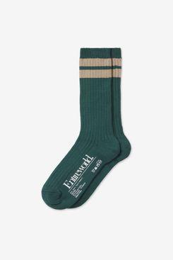 Entireworld Recycled Cotton Double Stripe Socks