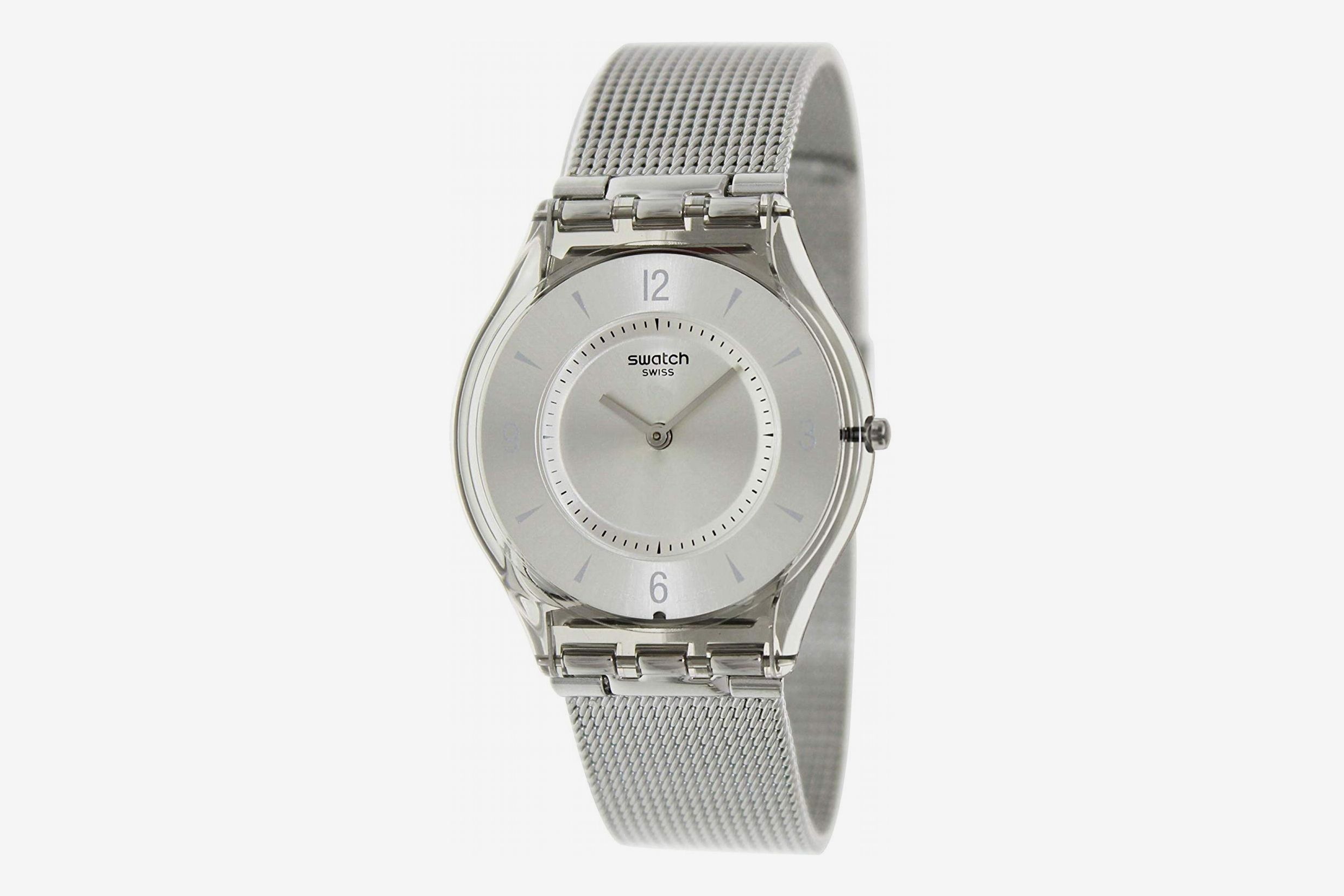 Swatch Metal Knit Quartz Resin Watch
