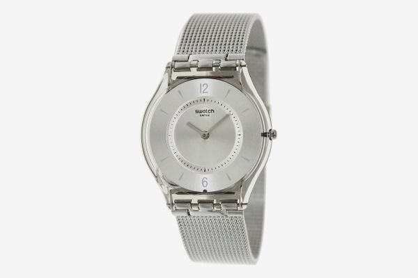 Swatch Metal Knit Quartz Resin Watch