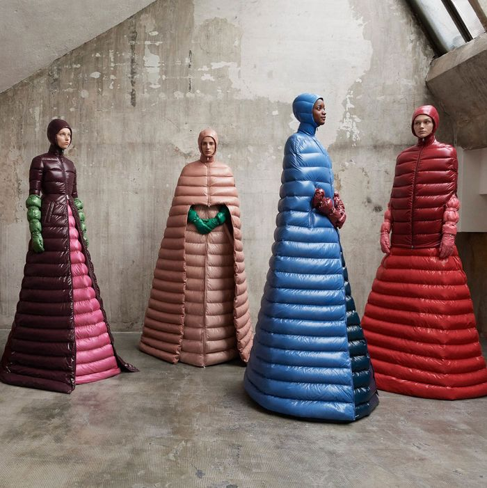 2732adede675 Moncler Made Puffer Coat Gowns, and They're Brilliant