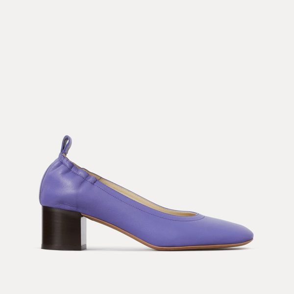 Everlane Day Heel, Violet Stacked