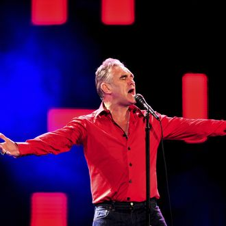 British singer Morrisey performs on stage during the the 53rd edition of the Vina del Mar Song Festival in Vina del Mar, Chile, 24 february 2012.