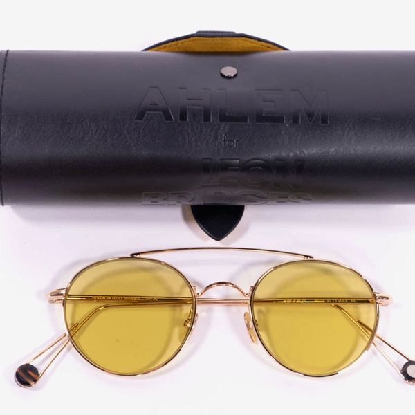 Pair of AHLEM x Leon Bridges Limited-Edition 22-Karat-Gold Sunglasses