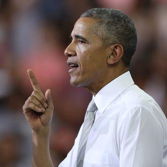 President Obama Campaigns For Hillary Clinton In Orlando, Florida