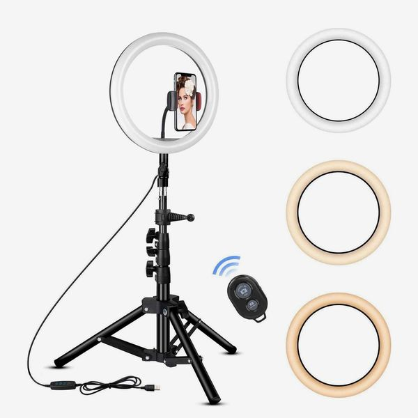 Rovtop 10 inch Ring Light with Stand Tripod