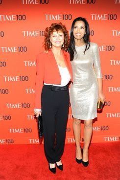 Susan Sarandon, Padma Lakshmi==TIME 100 Gala, TIME's 100 Most Influential People in the World==Jazz at Lincoln Center, NYC==April 29, 2014==?Patrick McMullan==Photo - Paul Bruinooge/PatrickMcMullan.com====