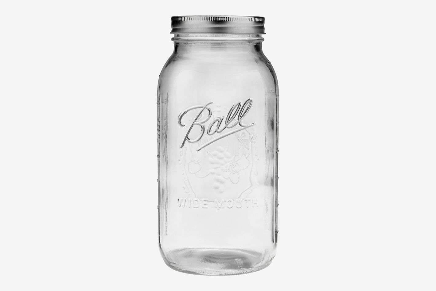 Ball Glass Mason Jar with Lid and Band, Wide Mouth, 64 Ounces