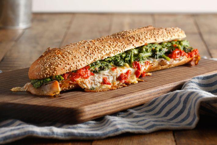 Nicola: porchetta, broccolini, Piave cheese, hot spread.