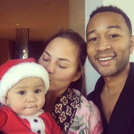 b6ed306e2 Chrissy Teigen and John Legend s Child Luna Enjoys Christmas
