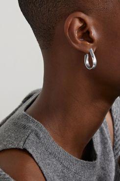 Jennifer Fisher Small Petite Bolden Silver-Plated Hoop Earrings