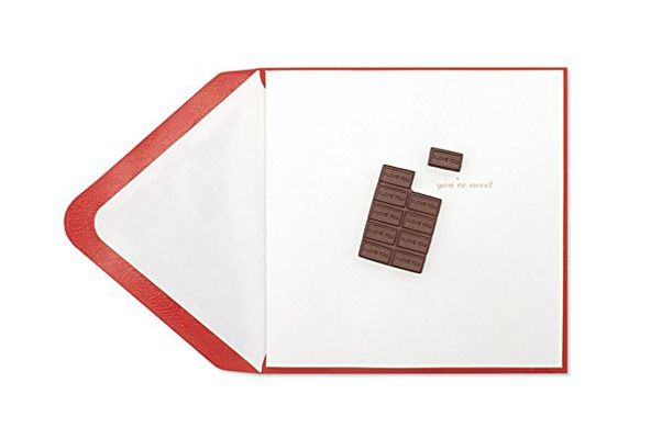 Papyrus Happy Valentine's Day Embellished Valentine's Cards (Chocolate Bar Love Card)