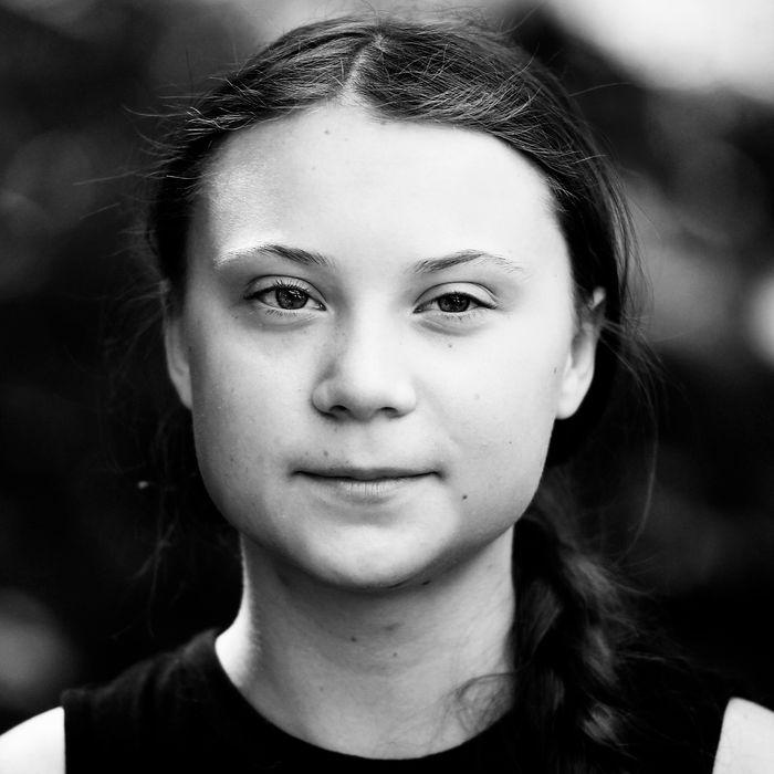16-year-old Swedish climate activist Greta Thunberg.