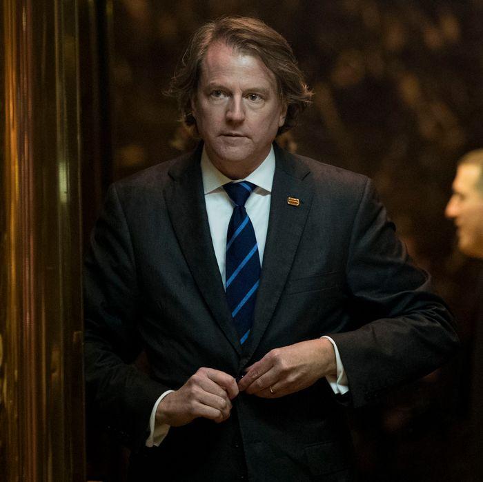 White House counsel Donald McGahn