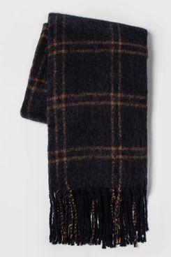 Faux Mohair Grid Throw Blanket