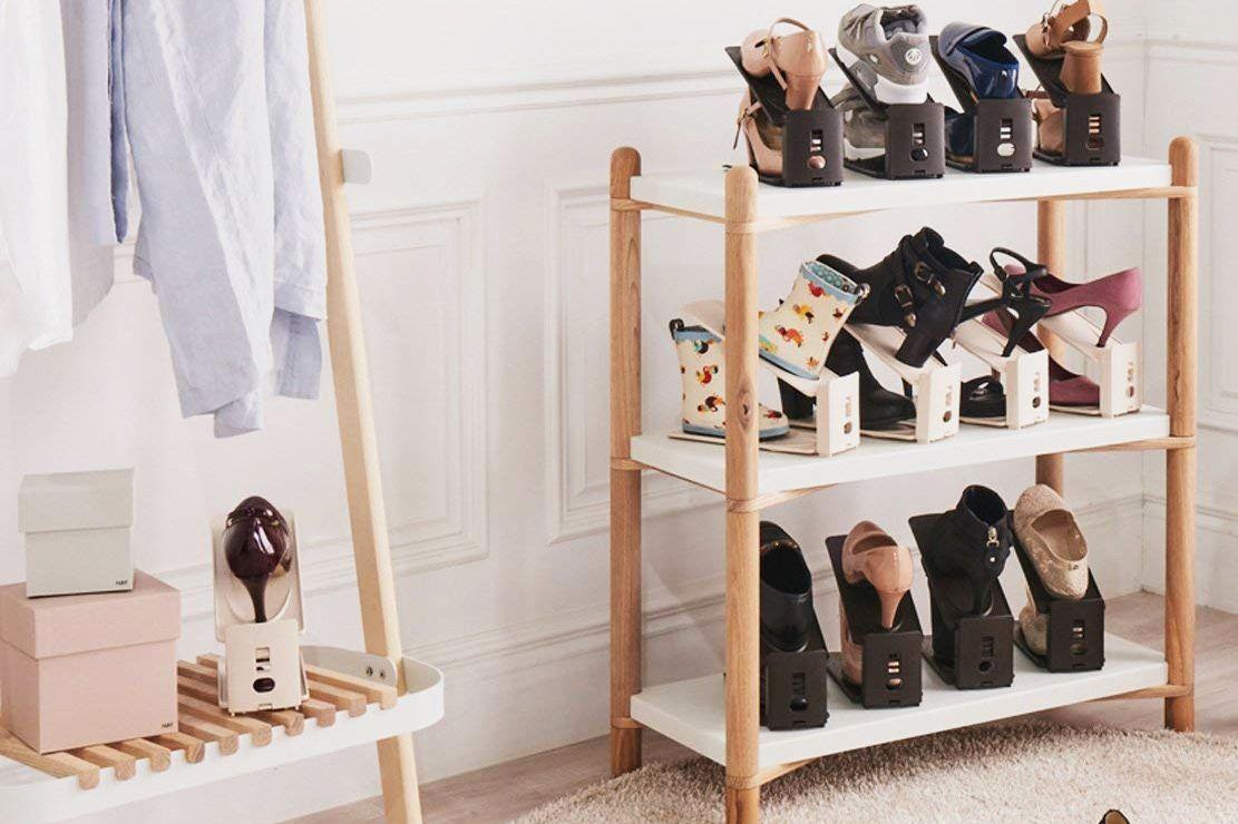 Harra Home Premium 3-step Adjustable Shoe Slots Space Saver (set of 5)