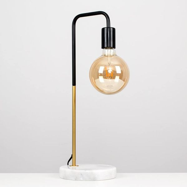 Black and Gold Effect Metal Table Lamp