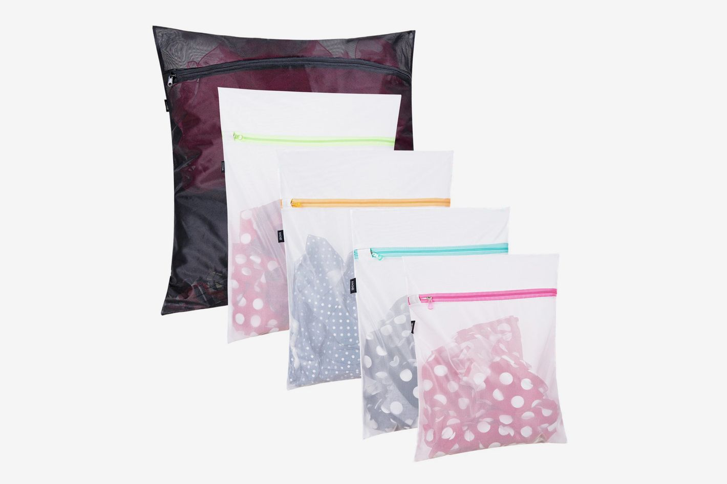 Set of 5 Mesh Laundry Bags