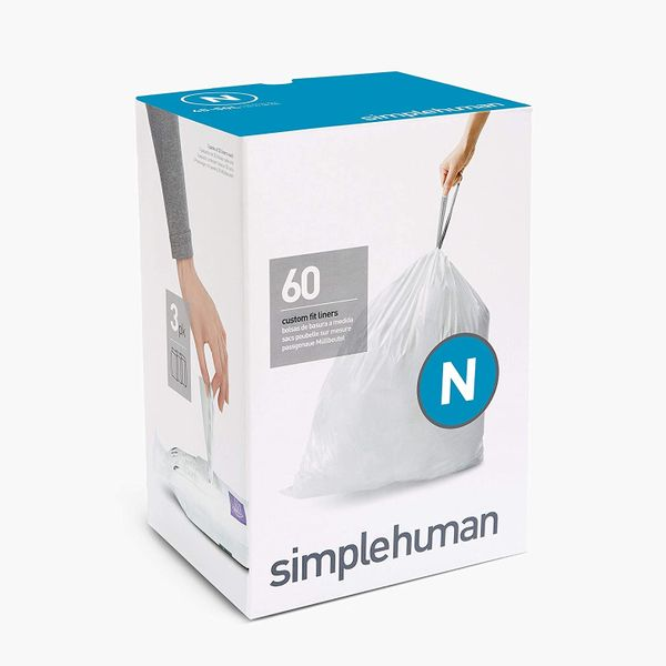 Simplehuman Code N Custom Fit Drawstring Trash Bags, 60-Count