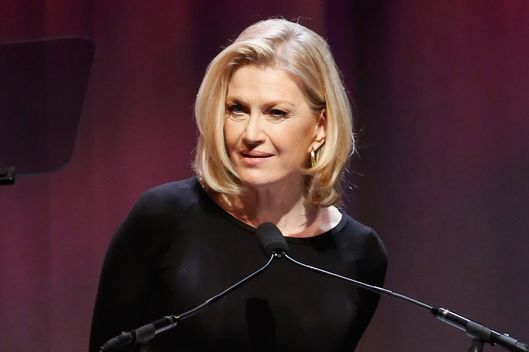 Journalist Diane Sawyer speaks at  Elizabeth Glaser Pediatric AIDS Foundation's Global Impact Award Gala Dinner Honoring Hillary Clinton at Best Buy Theater on December 3, 2013 in New York City.
