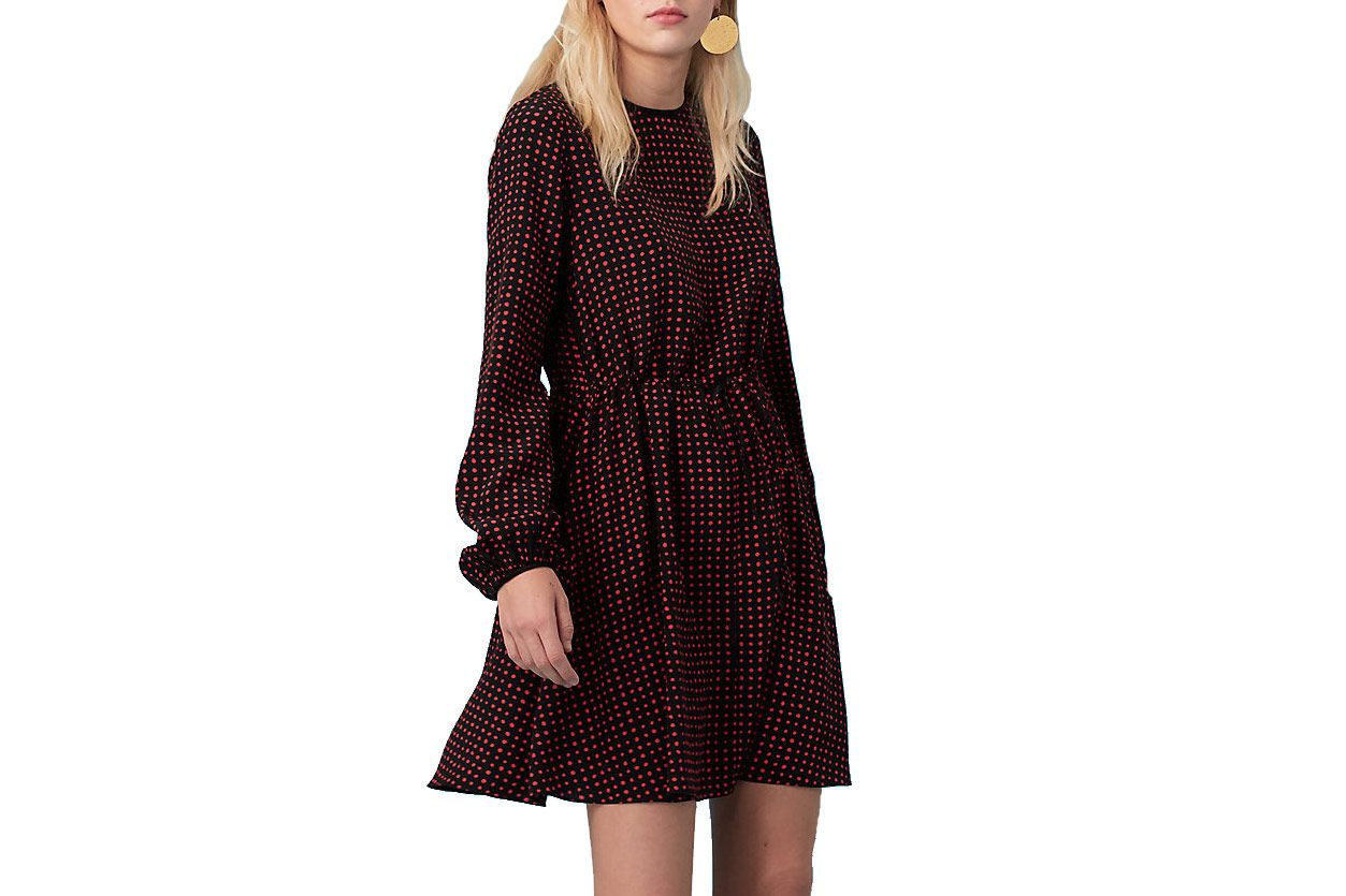 Crew Neck Mini Dress