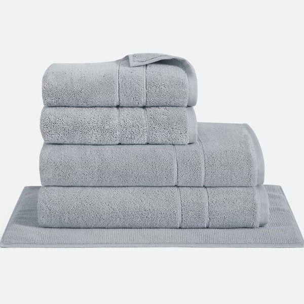gray brooklinen super plush bath towel set
