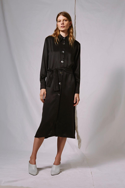Topshop Sandwash Silk Shirt Dress
