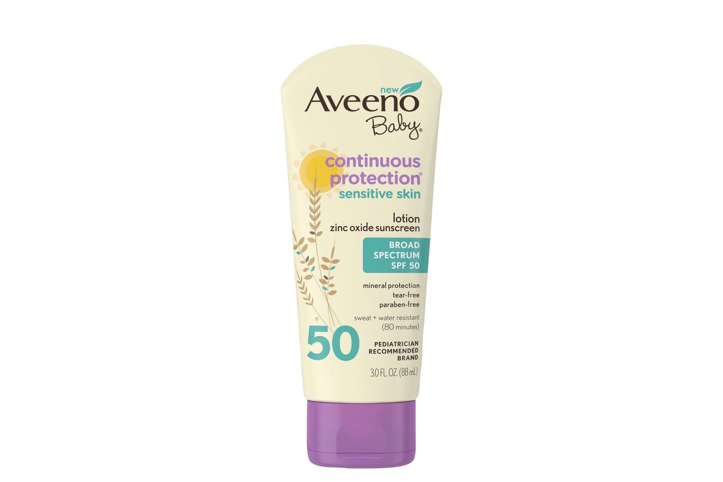 Aveeno Baby Continuous Protection Sensitive Skin Broad Spectrum SPF 50