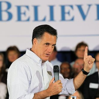Republican Presidential candidate, former Massachusetts Gov. Mitt Romney speaks during a town hall style meeting on April 1, 2012 in Middleton, Wisconsin. With less than a week before the Wisconsin primary, Mitt Romney continues to campaign through the state.