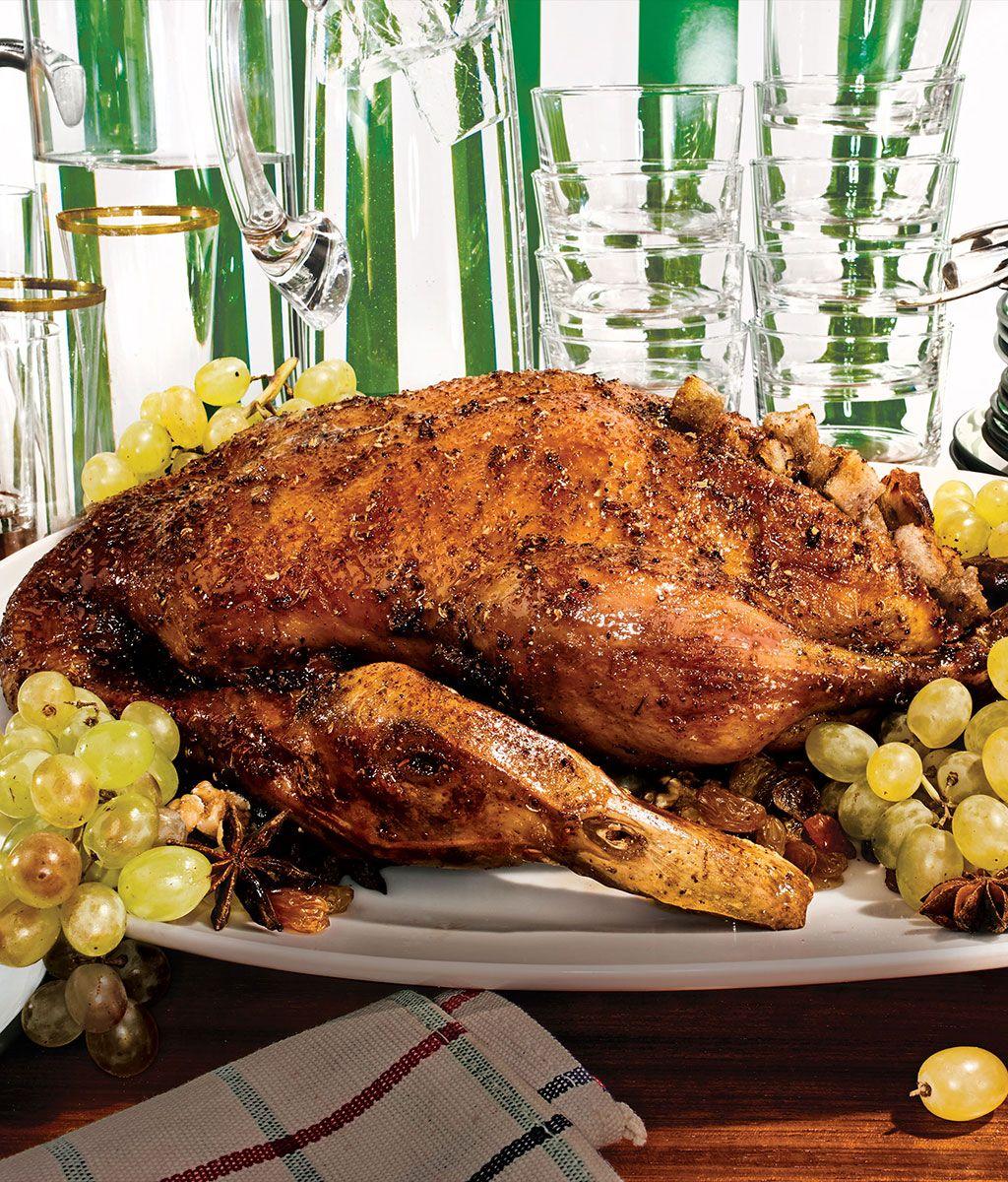 Matt and Emily Hyland's whole roast duck.