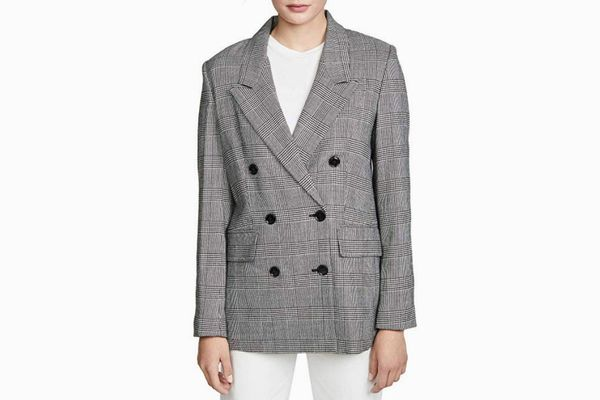 FRAME Women's Double Breasted Blazer