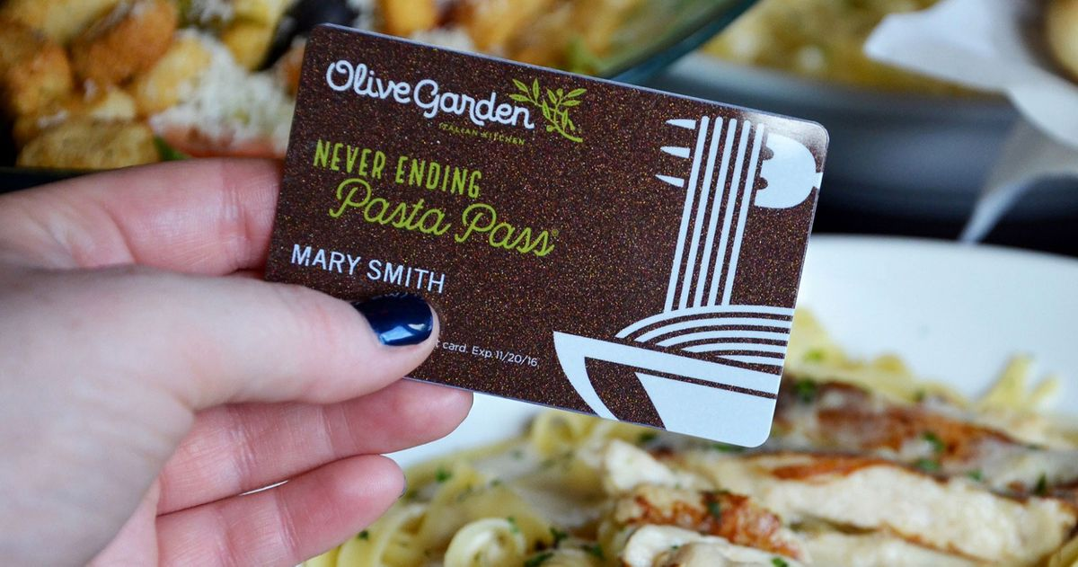 Olive garden to sell 21 000 endless pasta passes this year - What time does the olive garden close ...