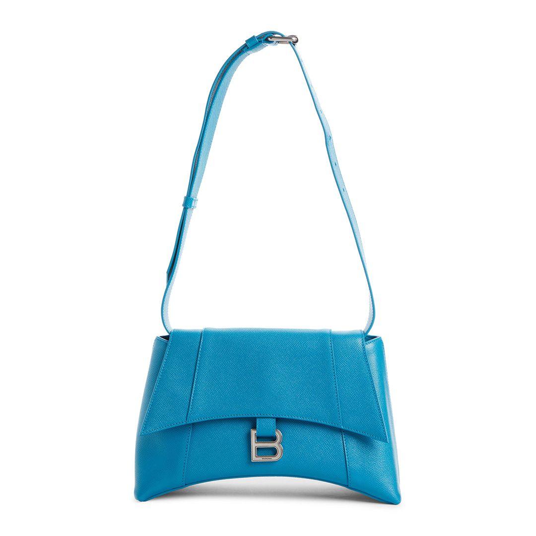 Soft Hourglass Calfskin Leather Shoulder Bag