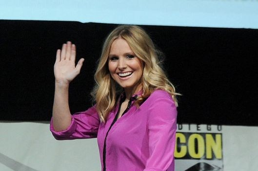 "Actress Kristen Bell speaks onstage at the ""Veronica Mars"" special video presentation and Q&A during Comic-Con International 2013 at San Diego Convention Center on July 19, 2013 in San Diego, California."