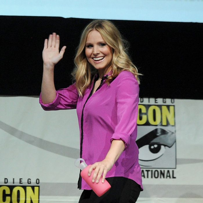 Actress Kristen Bell speaks onstage at the