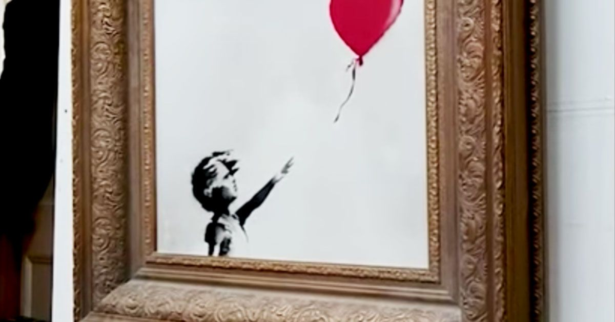 Banksy says That Painting Was Meant to Be Totally Shredded