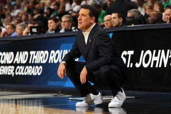 DENVER, CO - MARCH 17:  Head coach Steve Lavin of the St. John's Red Storm shouts from the bench against the Gonzaga Bulldogs during the second round of the 2011 NCAA men's basketball tournament at Pepsi Center on March 17, 2011 in Denver, Colorado.  (Photo by Doug Pensinger/Getty Images) *** Local Caption *** Steve Lavin