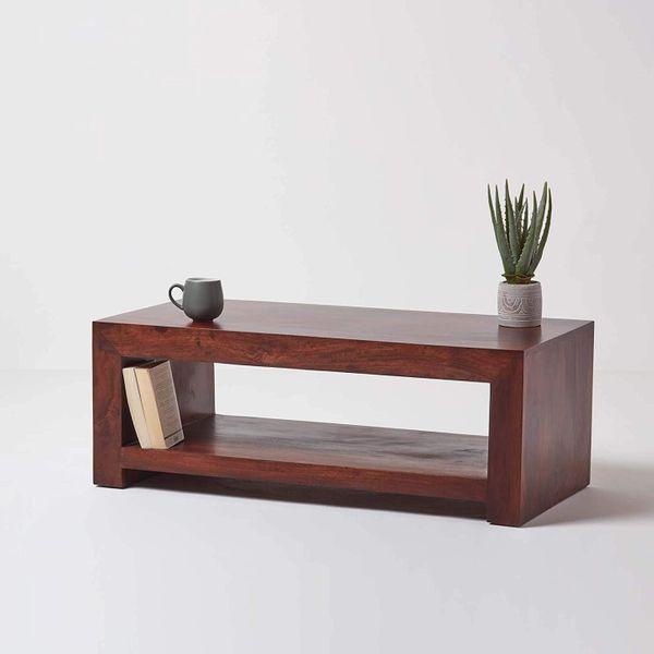 Dakota Dark Rectangular Coffee Table