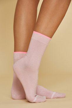 Bandier Lurex Tipped Socks