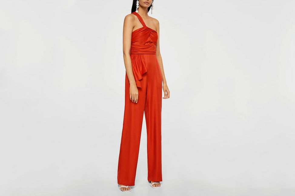 Ruffled Assymetric Jumpsuit