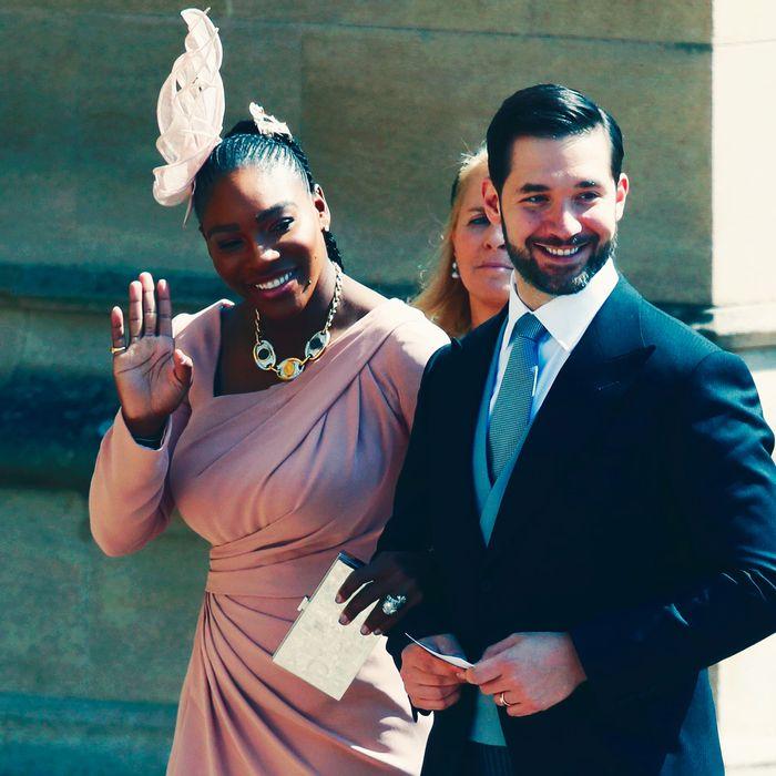Serena Williams and Alexis Ohanian at the royal wedding.