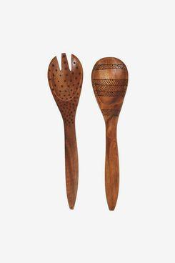 Effortless Composition Handmade Acacia Wood Salad Servers