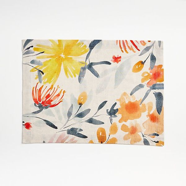 Crate and Barrel Vale Floral Placemat