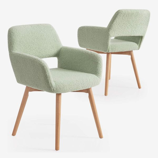 Lansen Furniture Living Room Accent Chairs with Solid Wood Legs, Sage