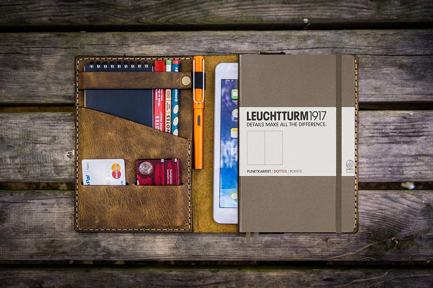 Galen Leather Leuchtturm1917 A5 Notebook Cover - Crazy Horse Brown