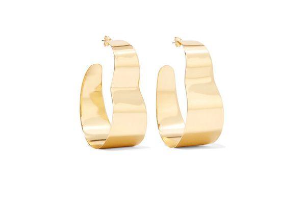 CORNELIA WEBB Gold-plated freshwater pearl hoop earrings