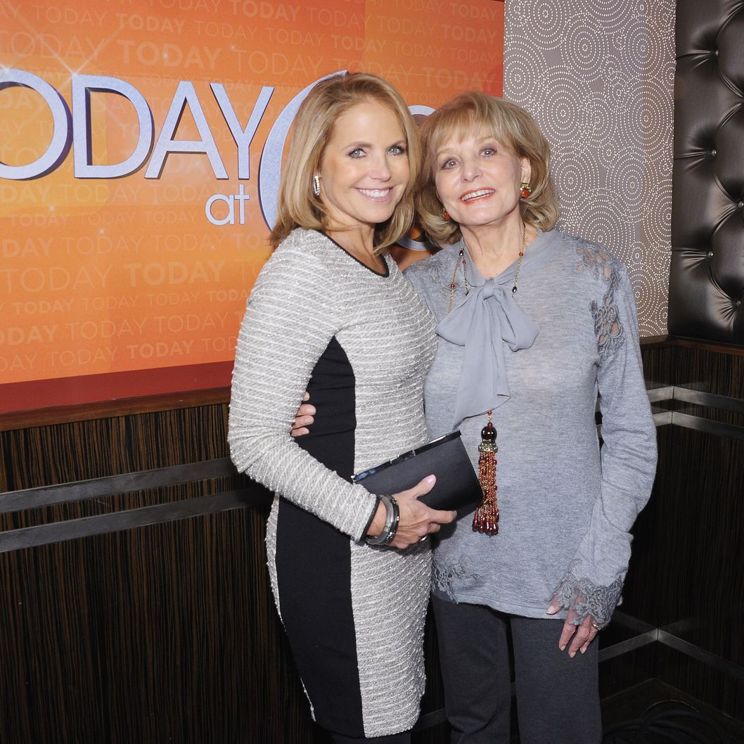 "NEW YORK, NY - JANUARY 12:  Former ""TODAY"" Show correspondents Katie Couric and Barbara Walters attend the ""TODAY"" Show 60th anniversary celebration at The Edison Ballroom on January 12, 2012 in New York City.  (Photo by Michael Loccisano/Getty Images)"