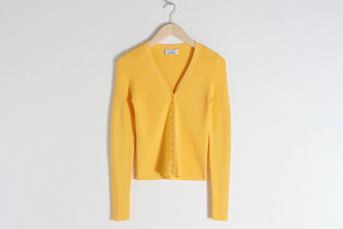& Other Stories Fitted Ribbed Cardigan